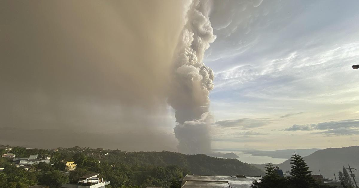 Taal Volcano erupts near Manila in the Philippines, spewing smoke and ash miles into the sky