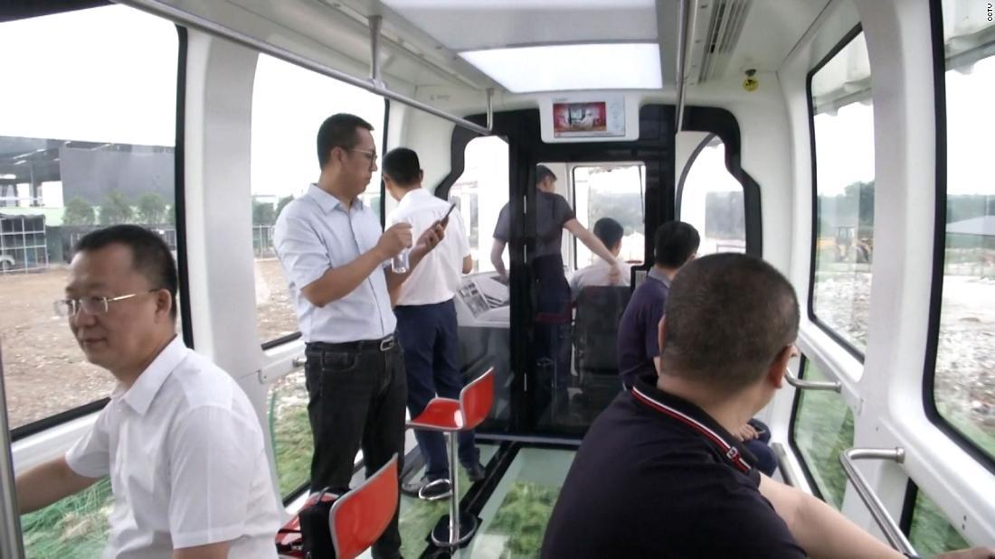 Glass-bottomed panda train debuts in China