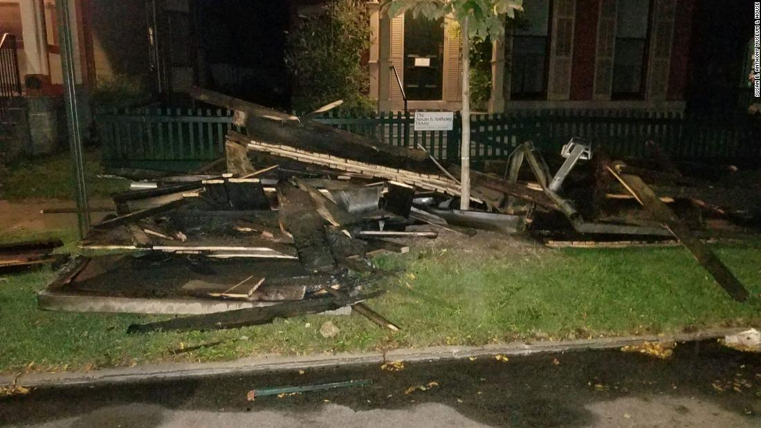 Susan B. Anthony House: Fire officials are investigating a 'suspicious' blaze at the historic residence
